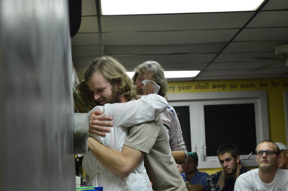 Community friends say goodbye to departing staff member.