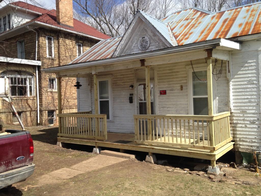 A porch at Gino's house