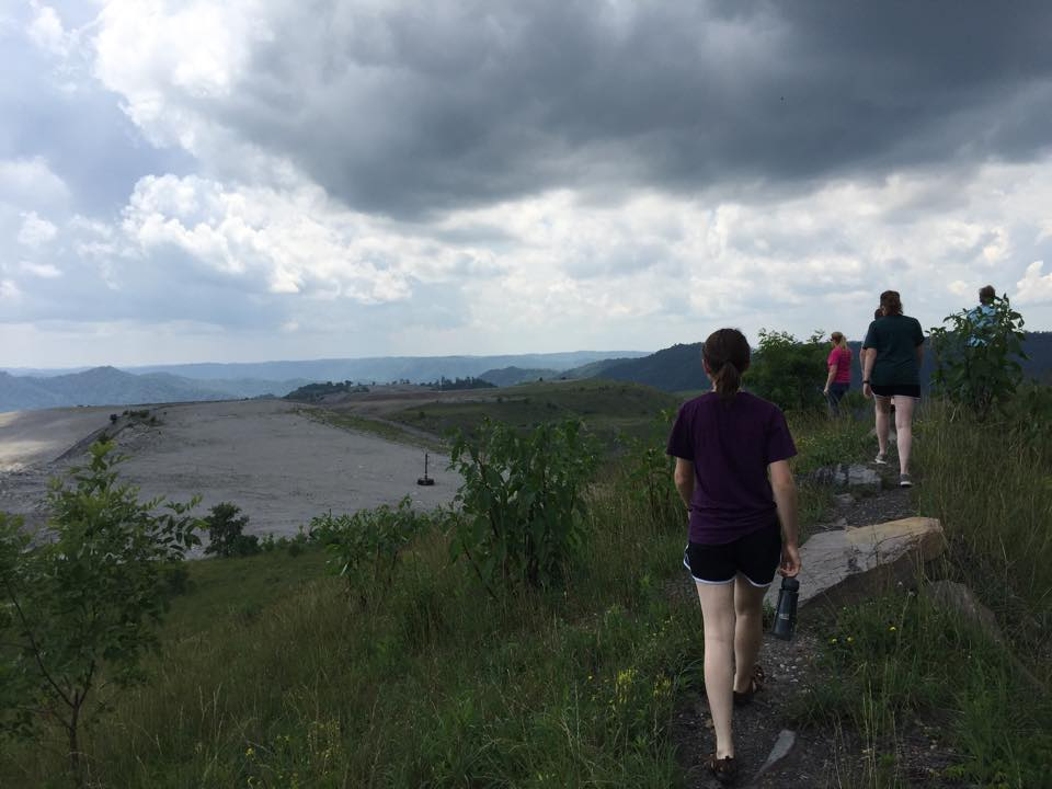 Staff and sojourners visit Kayford Mountain to experience a mountaintop removal site.