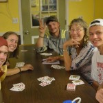 A game of rummy.